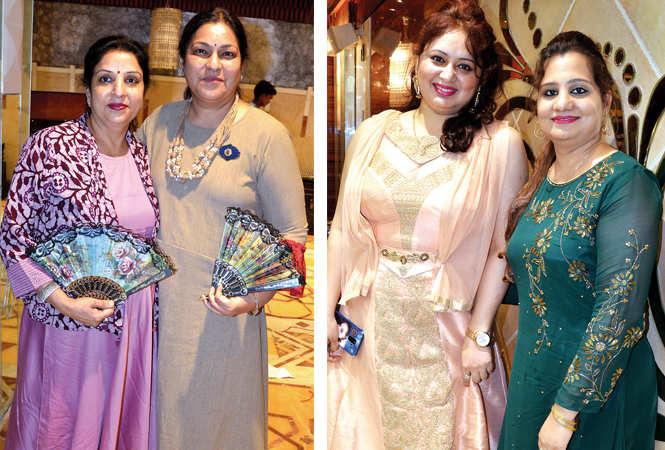 (L) Savina Jain and Juhi Manglik (R) Shagun Adalakha and Richa Nigam (BCCL/ IB Singh)