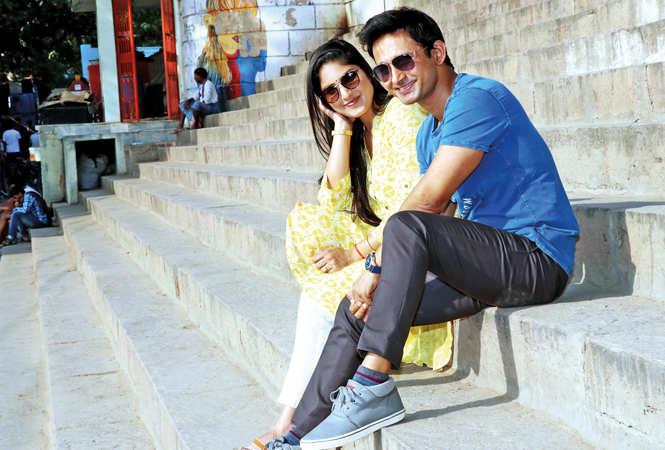 Nivaan with his wife Neelu at Assi Ghat in Varanasi (BCCL/ Unmesh Pandey)