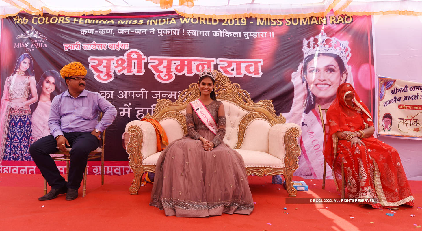 fbb Colors Femina Miss India 2019 Suman Rao's homecoming