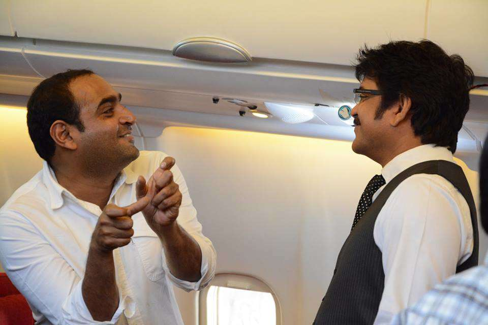 on the sets of Manam