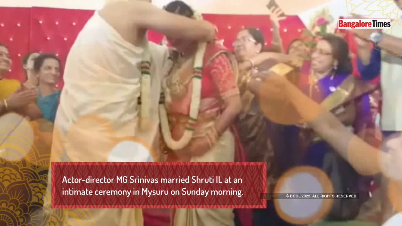 Director MG Srinivas married Shruti IL in Mysuru