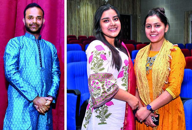 Syed Shamshur Rehman (L) and Vatsalya Rathore and Priya Saini (BCCL/ Vishnu Jaiswal)