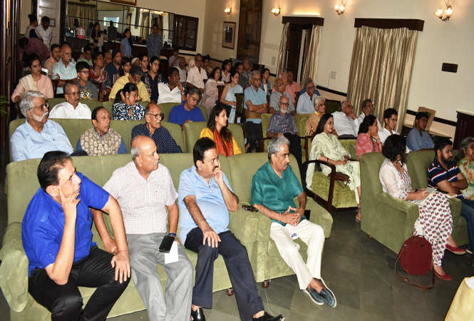 A view of the audience at Ashok Club