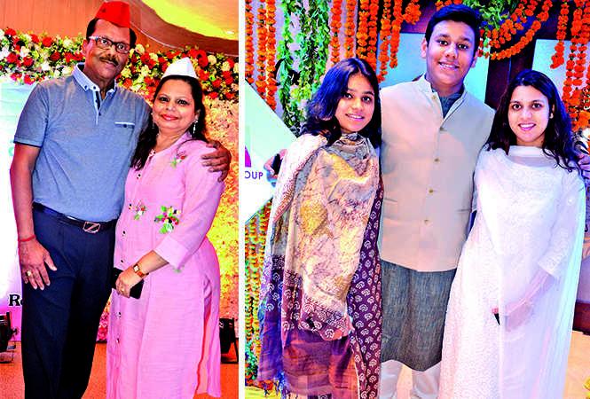 (L) Ajay Garg and Karuna Garg (R) Kriti, Keshav and Kashish (BCCL/ IB Singh)