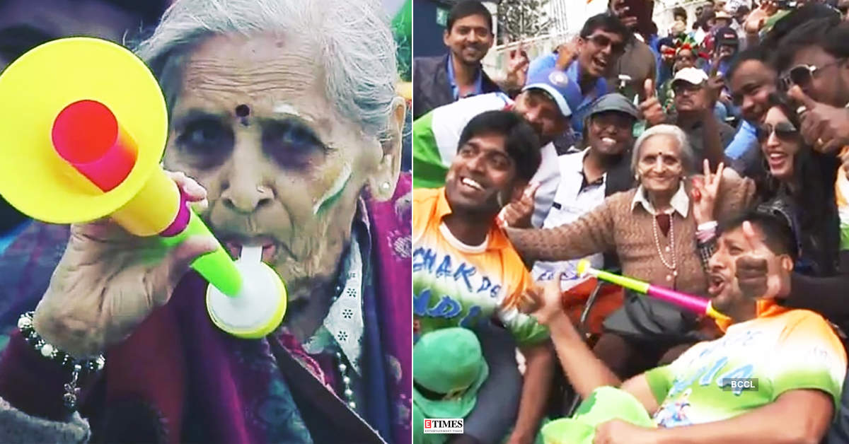 This cute Grandma cheering for Team India is the best thing you will see today…