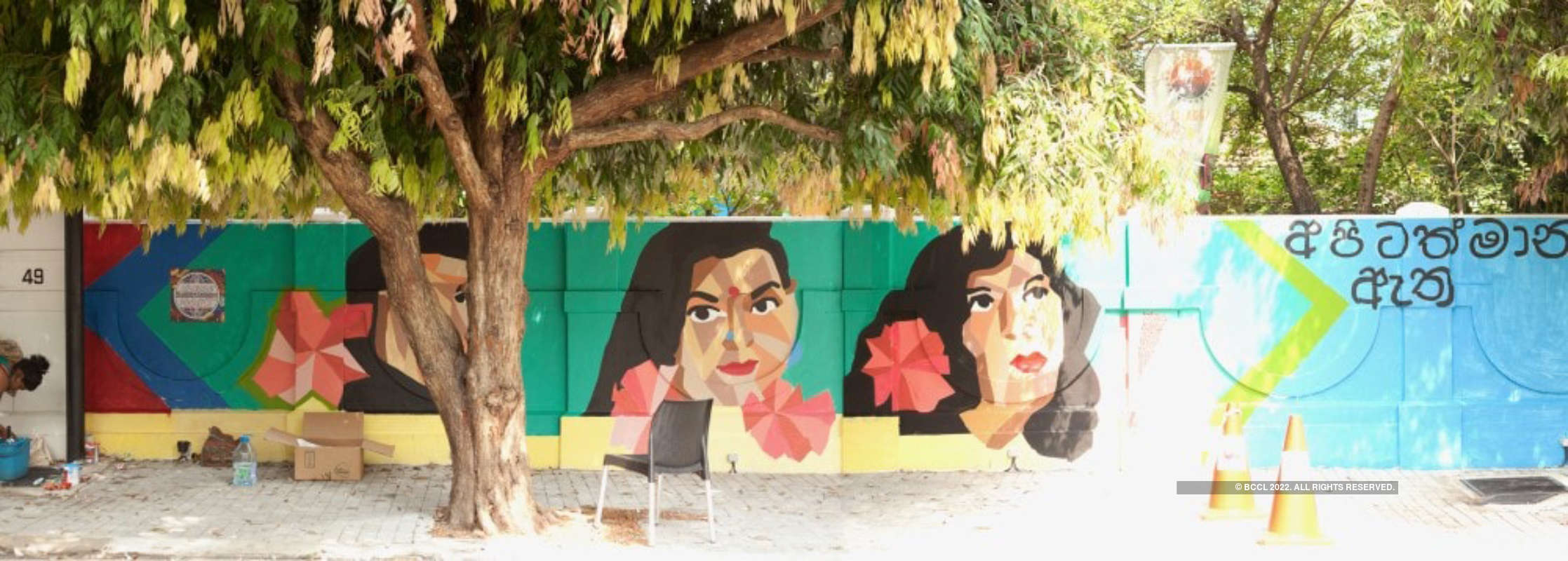 Transgender artists reclaim public spaces through technicolour murals