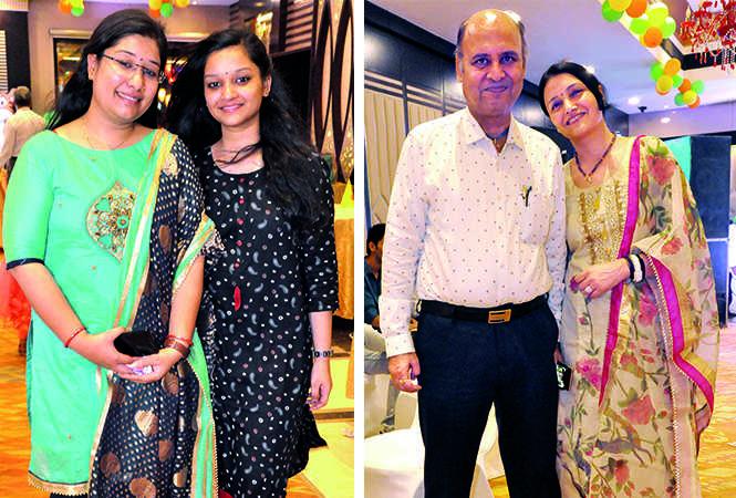 (L) Sakshi and Poorvi Agarwal (R) Dr Sharad and Poonam Mittal (BCCL/ AS Rathor)