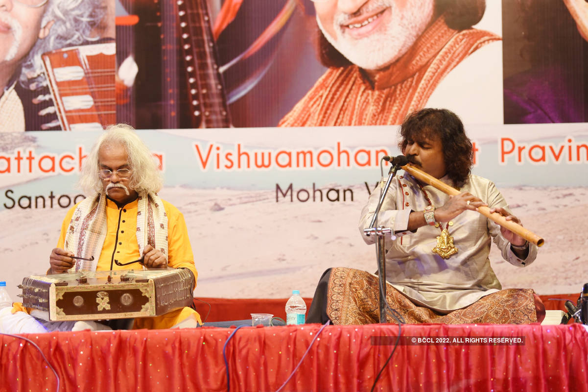 Musicians perform at musical concert 'Sangam'