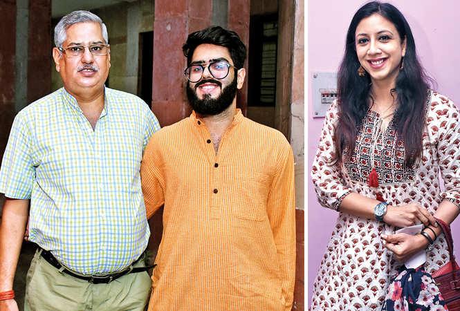 (L) Atul and Anant Chaturvedi (R) Diya Badgel (BCCL/ Vishnu Jaiswal)