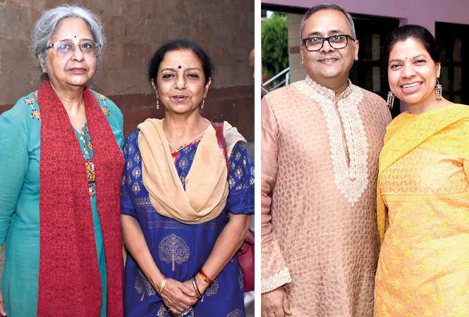 (L) Dr Rashmi Chaturvedi and Prof Kumkum Dhar (R) Jayant Krishna and Beena Krishna (BCCL/ Vishnu Jaiswal)