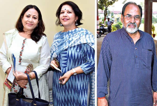 (L) Dr Shobha Bajpai and Vinita Mishra (R) Gopal Sinha (BCCL/ Vishnu Jaiswal)