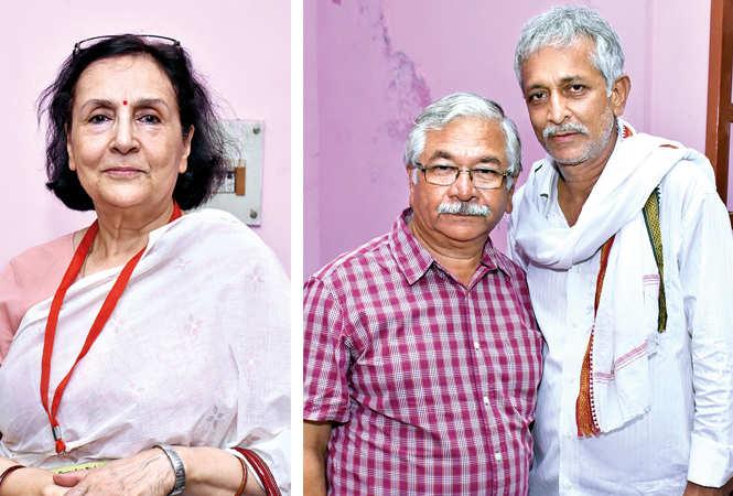(L) Kiran Raj Bisaria (R) Pradeep Kapoor and Rakesh Pandey (BCCL/ Vishnu Jaiswal)