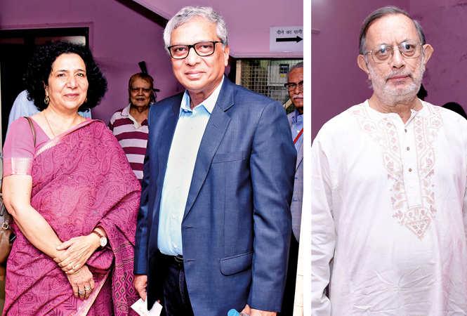 (L) Naheed and Justice Shabihul Hasnain (R) Amit Mukherjee (BCCL/ Vishnu Jaiswal)