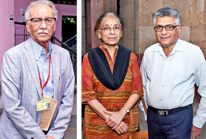 (L) Prof Raj Bisaria (R) Veena and Major SC Mathur (BCCL/ Vishnu Jaiswal)
