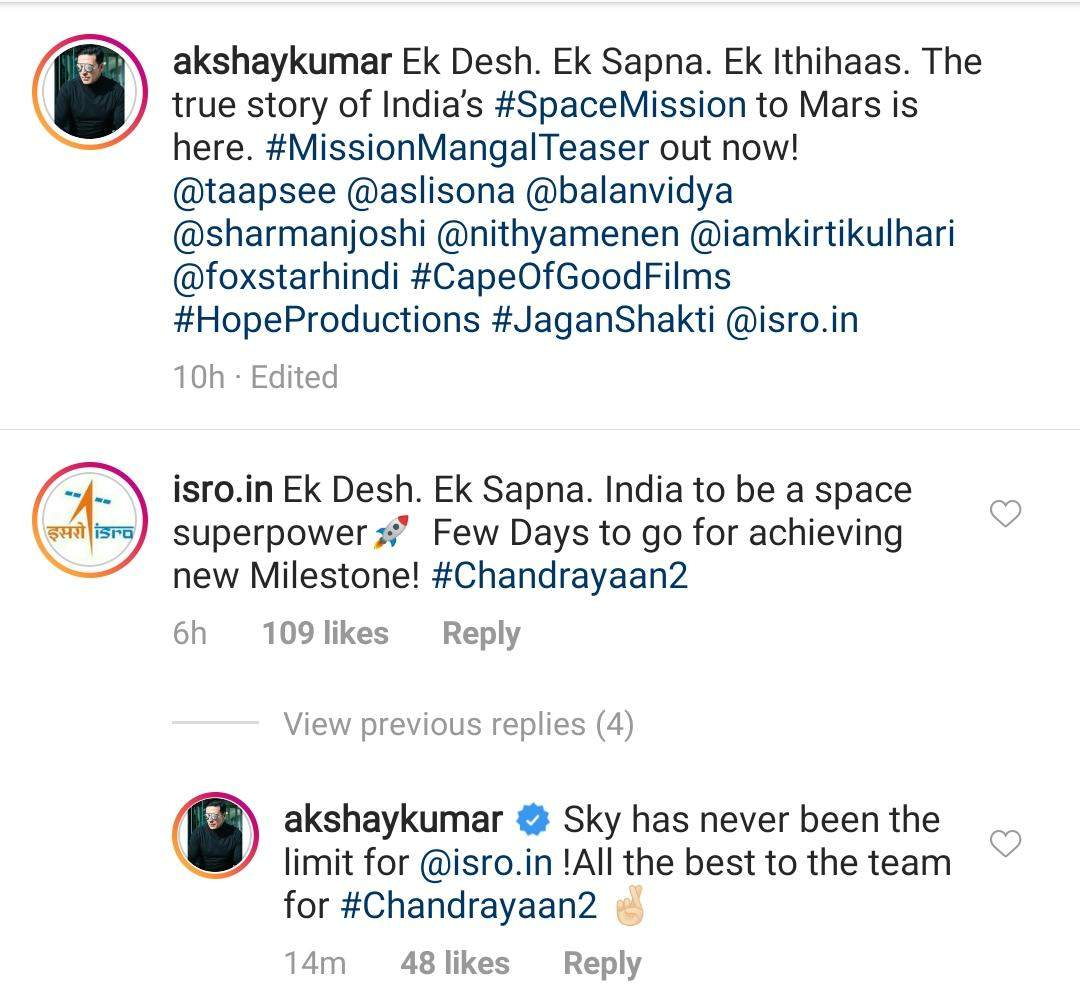 Indian Space Research Organization responds to the teaser of