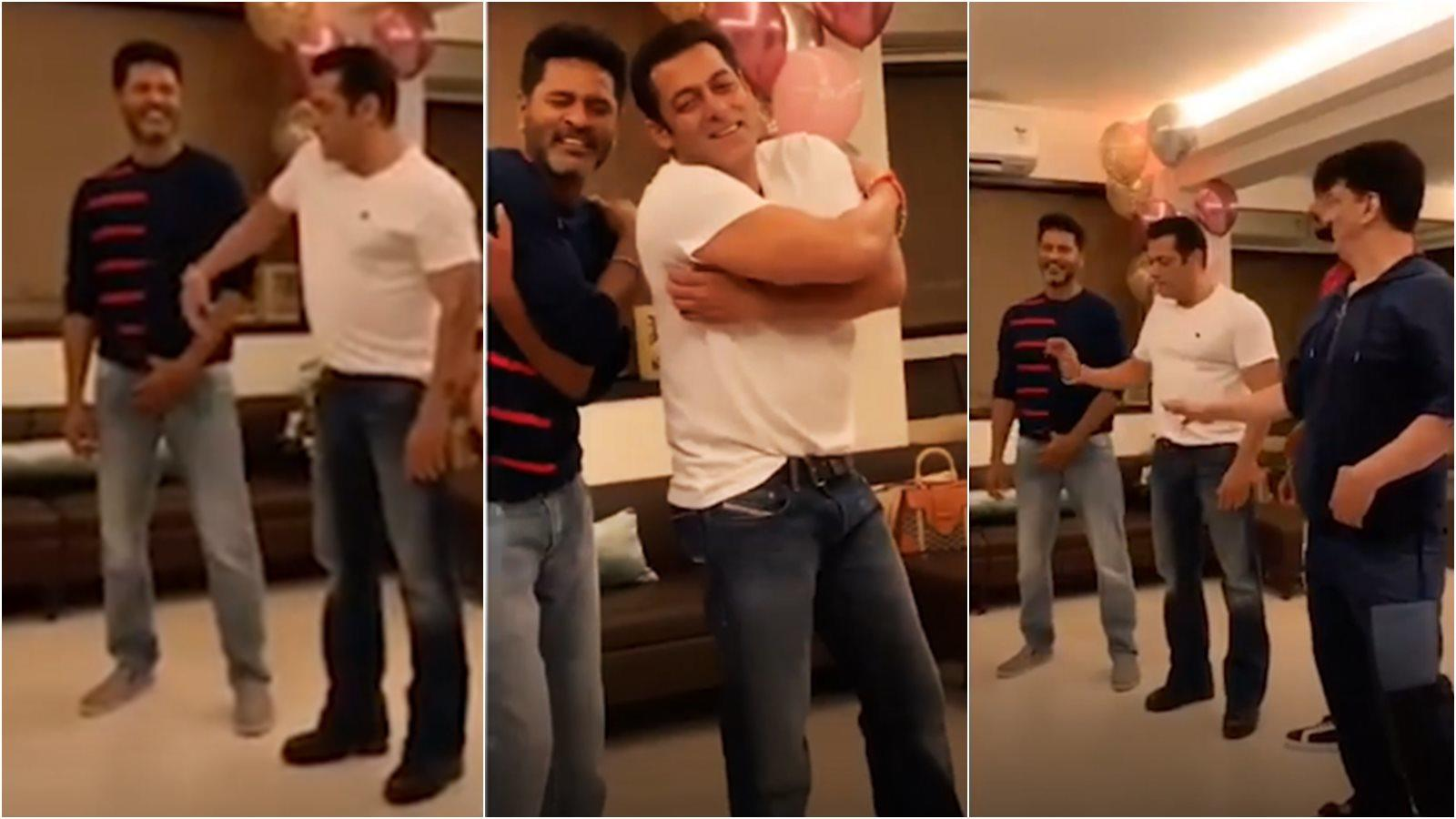 Watch: Salman Khan, Sajid Nadiadwala take dance lessons from Prabhu Deva