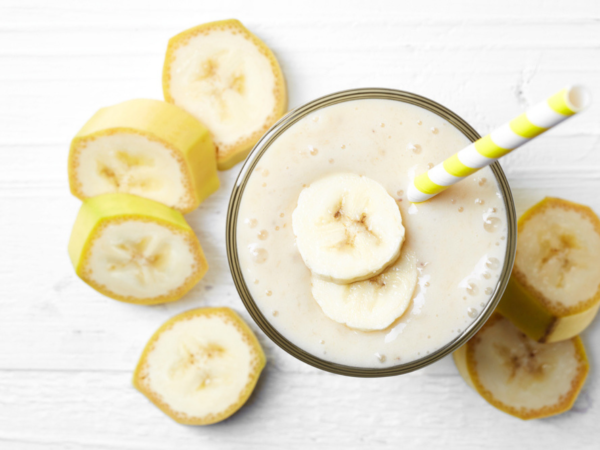 Here's is how you can gain weight by drinking banana shake.