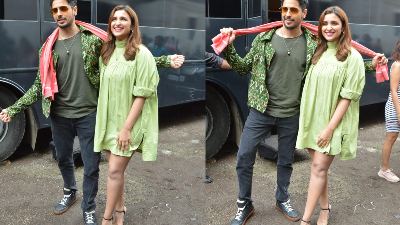 'Jabariya Jodi': Sidharth Malhotra and Parineeti Chopra pose for shutterbugs