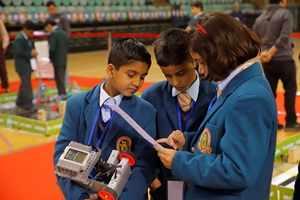 Robotics competition for school children
