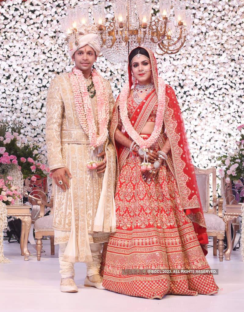 Hyderabadi cricketer Himalay Agarwal and Juhi's royal wedding reception