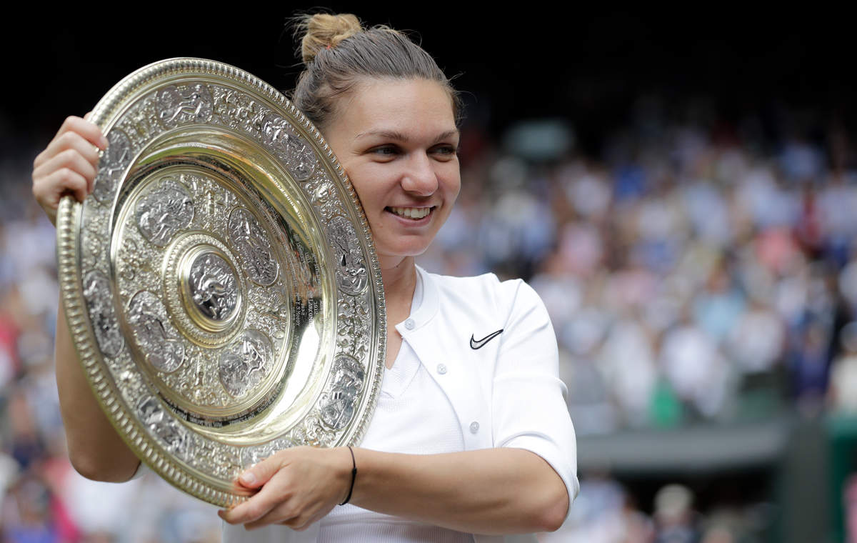 Simona Halep wins first Wimbledon