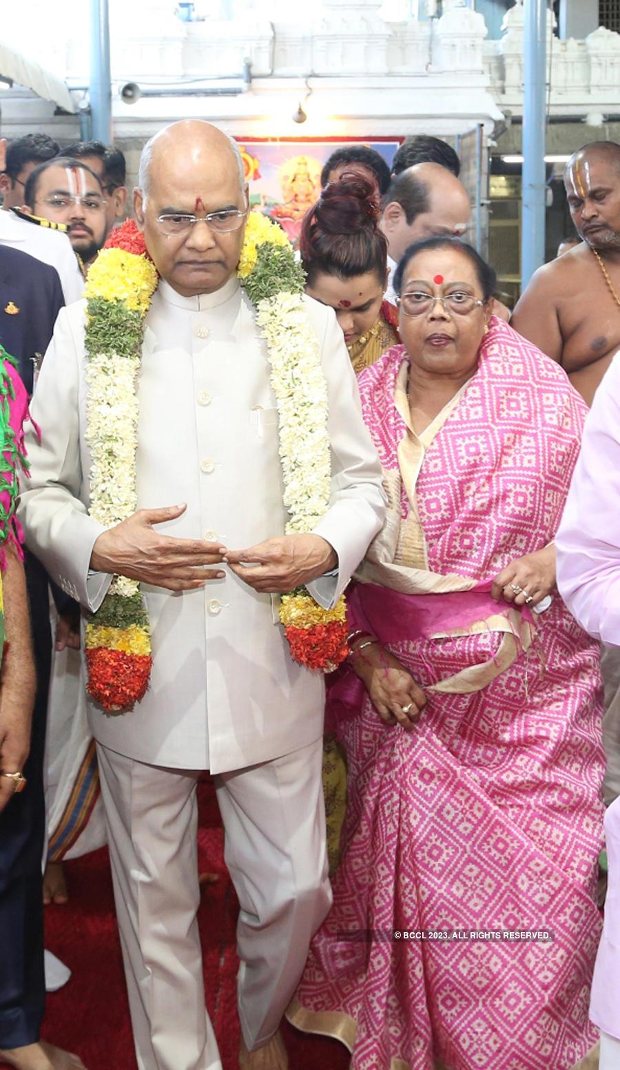 President offers prayers at Tirupati temples