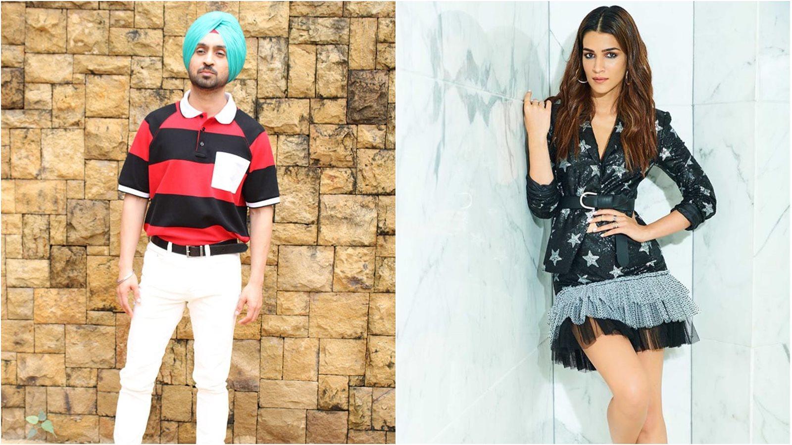 Diljit Dosanjh, Kriti Sanon promote upcoming film 'Arjun Patiala'