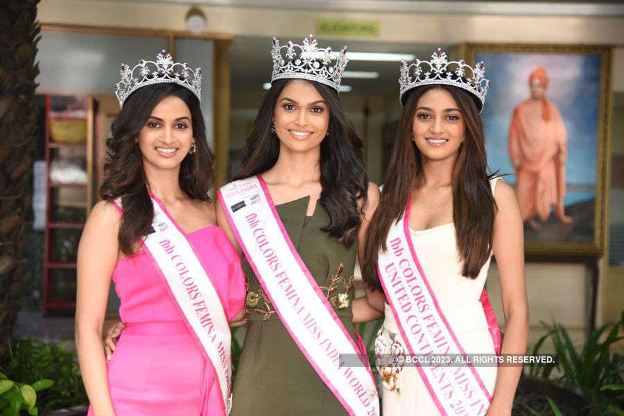 Miss India 2019 winners visit Welingkar Institute in Mumbai