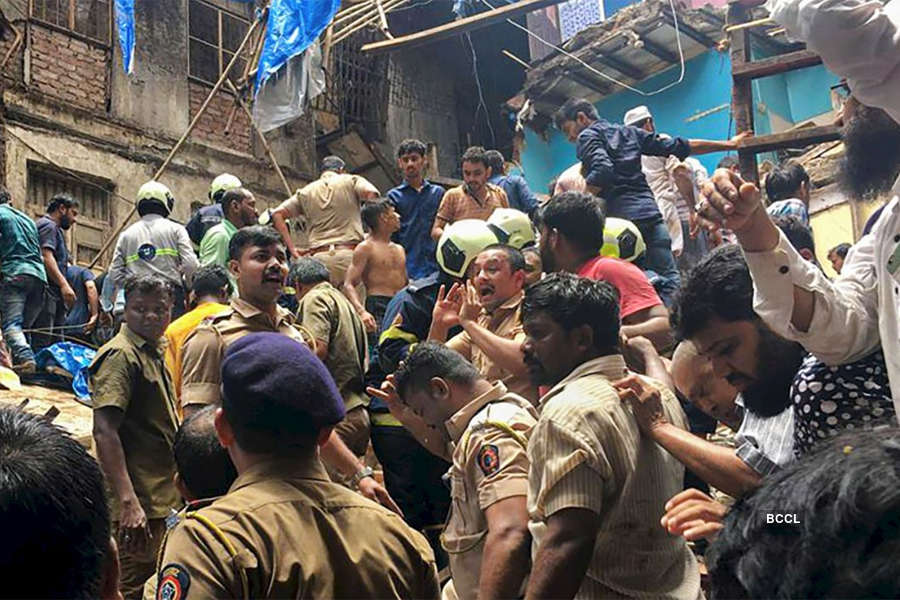 Mumbai building collapse photos: Several killed, over 40 feared trapped