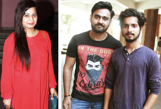 (L) Neha Mishra (R) Prashant and Aman (BCCL/ Aditya Yadav)