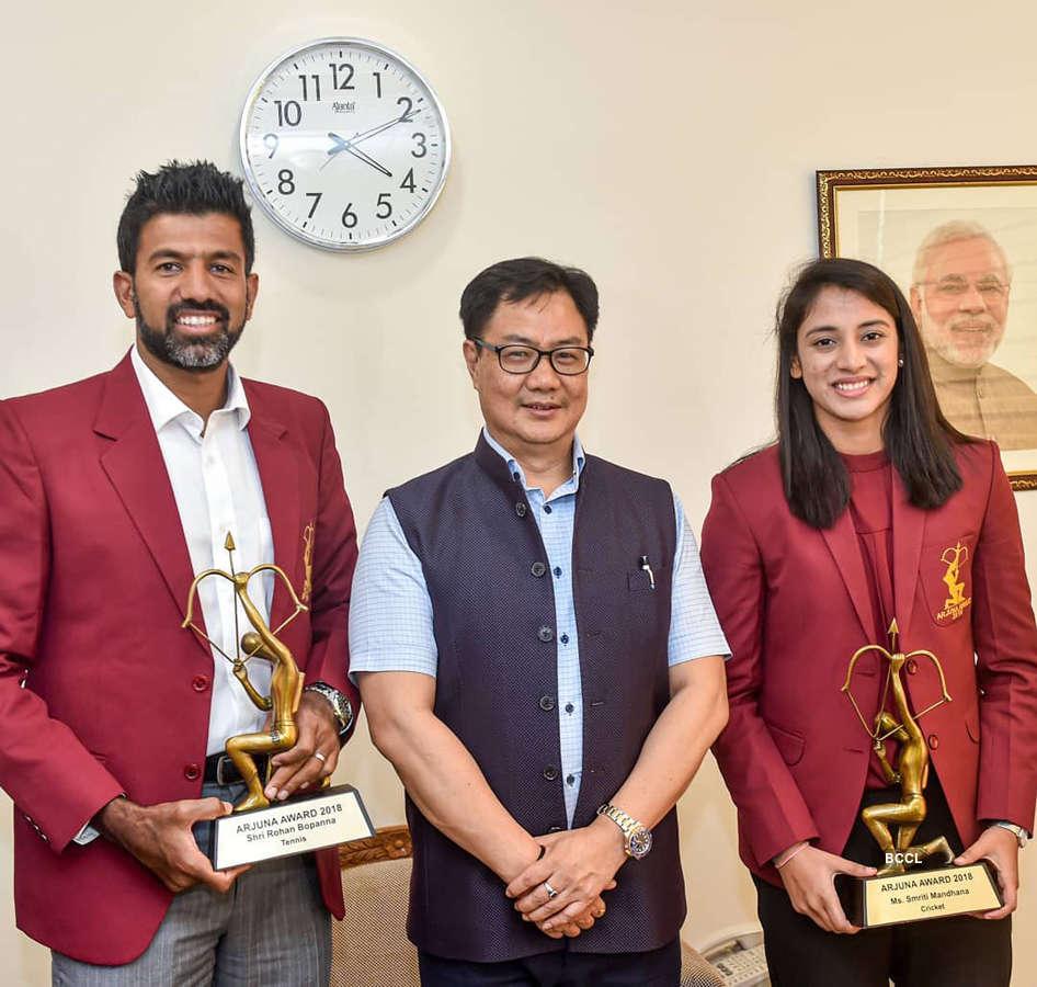 Smriti Mandhana and Rohan Bopanna honoured with Arjuna Award