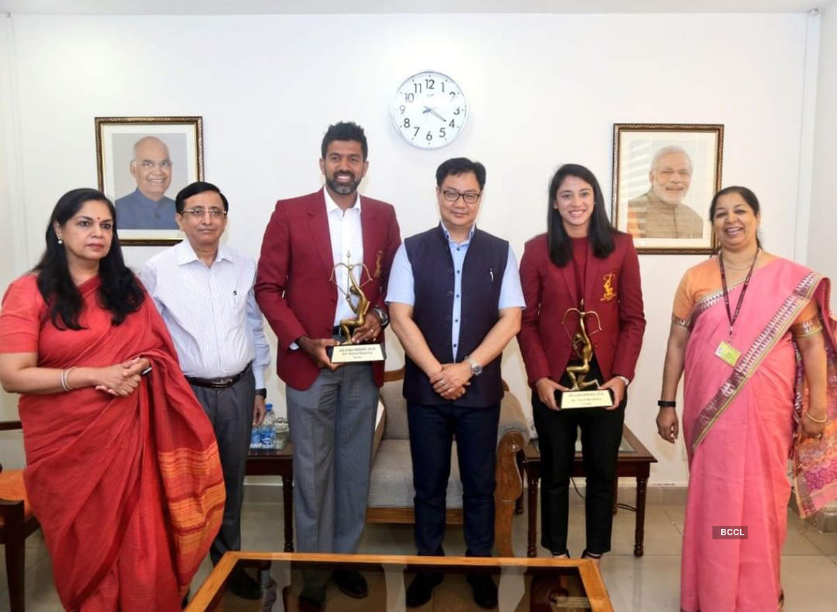 Smriti Mandhana and Rohan Bopanna honoured with Arjuna Award