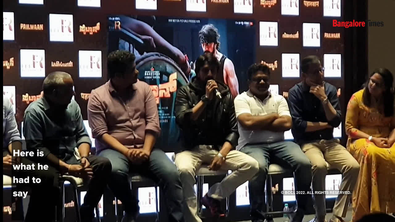 Sudeep talks about his preparation for Pailwaan