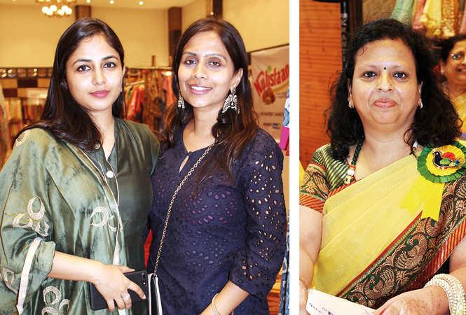 (L) Saloni Madhok and Saumya Prakash (R) Seema Agrawal (BCCL/ Arvind Kumar)