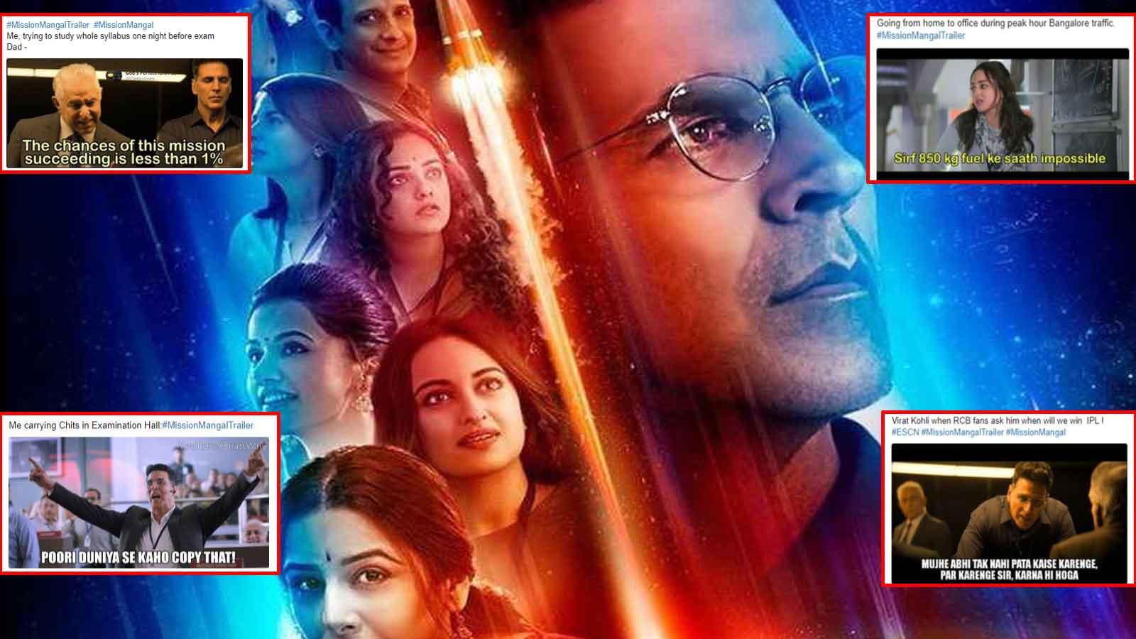 Akshay Kumar's 'Mission Mangal' trailer gives rise to hilarious meme fest
