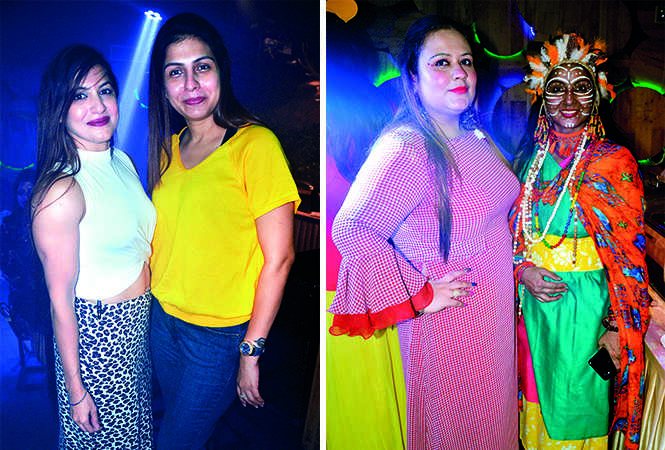 (L) Neha Chawla and Sneha Kaur (R) Nishpreet Saluja and Mala Singh (BCCL/ IB Singh)