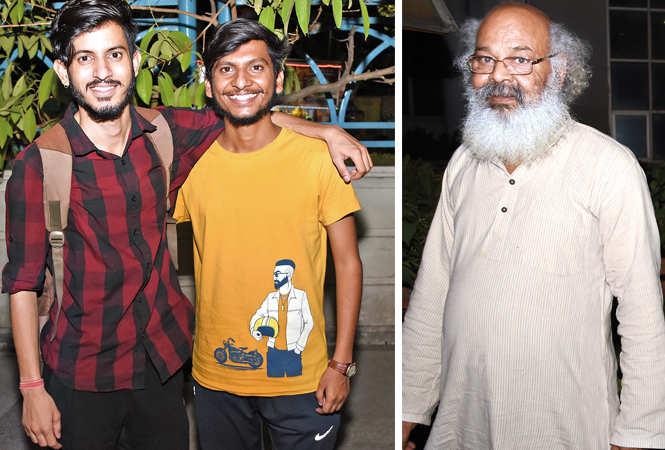 (L) Suraj Pandey and Shashank Yadav (R) Surya Mohan Kulshreshtha (BCCL/ Farhan Ahmad Siddiqui)