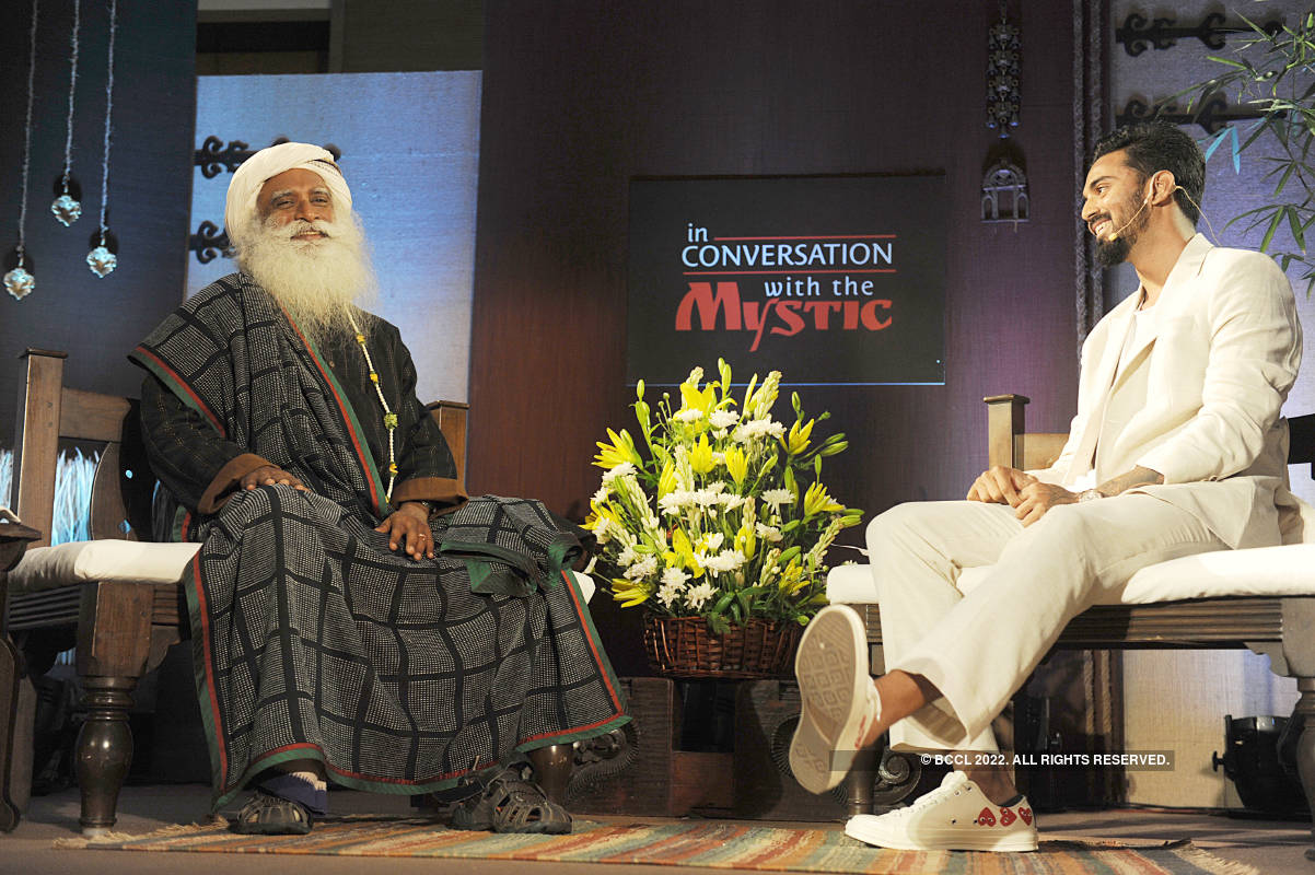When KL Rahul interviewed Sadhguru in Bengaluru
