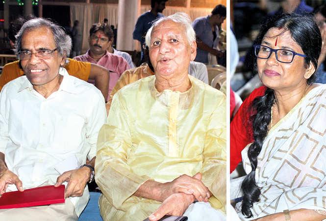 (L) Uday Bajpayee and Prof RK Shukla (R) Vandana (BCCL/ Arvind Kumar)