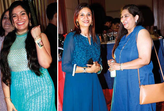 (L) Ankita Khatry (R) Tejesh Shah and Anshoomali Gupta (BCCL/ Unmesh Pandey)