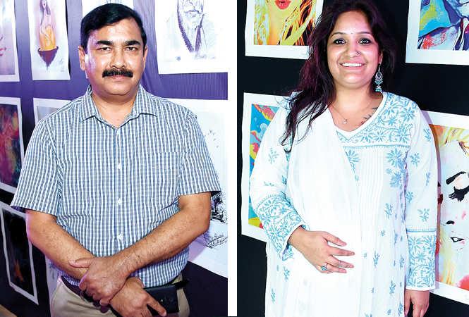 (L) Bharat Shah (R) Dr Geetanjali Joshi (BCCL/ Farhan Ahmad Siddiqui)