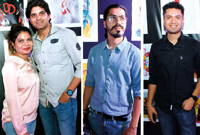 (L) Neha Srivastava and Raghvendra Singh (C) Pulkit Sahani (R) Sandeepan Sharma (BCCL/ Farhan Ahmad Siddiqui)