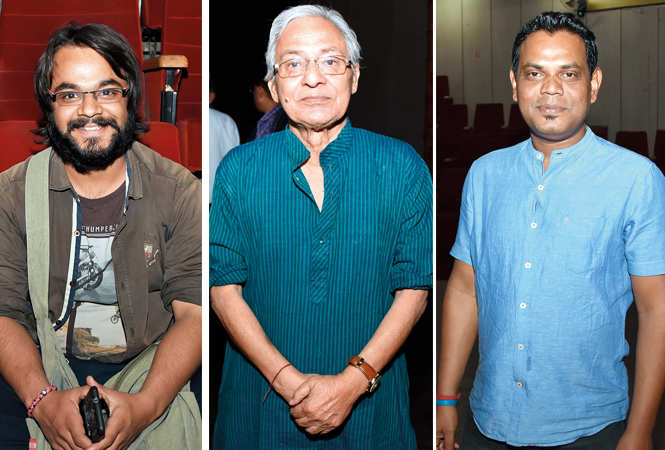 (L) Basant Mishra (C) Urmil Kumar Thapliyal (R) Sukumar Tudu (BCCL/ Farhan Ahmad Siddiqui)