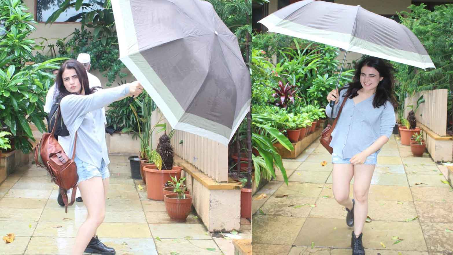 Radhika Madan is up for some mischief in rain, strikes funky poses with umbrella