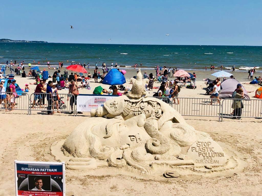 Sudarsan pattnaik's sand art.