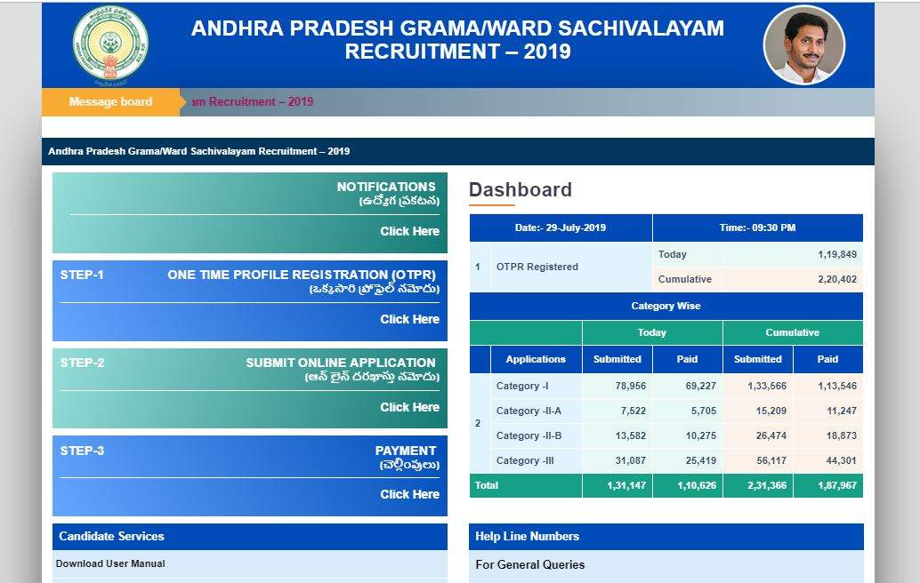 AP Grama Sachivalayam Notification 2019: Here're the steps