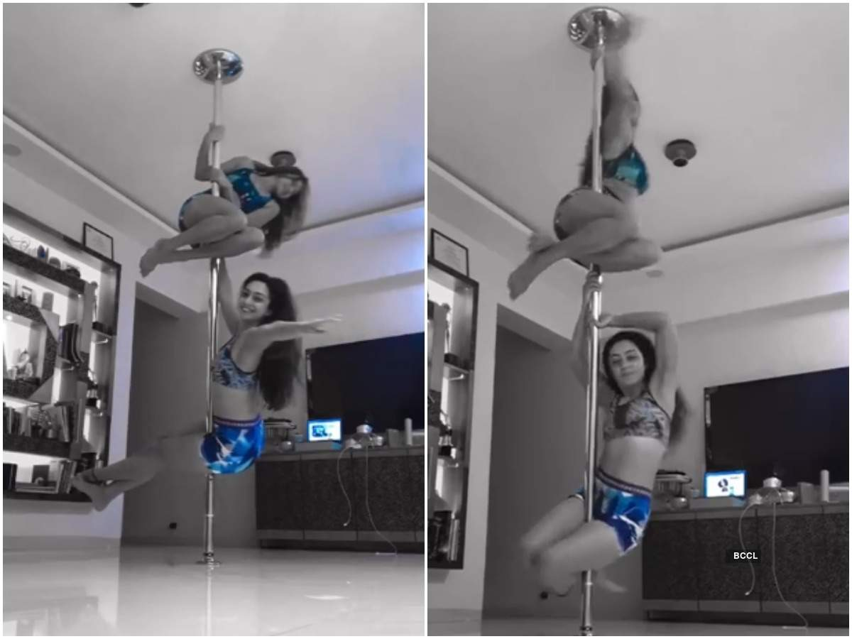 BFFs Aashka Goradia and Abigail Pande redefine fitness goals with their pole dance moves