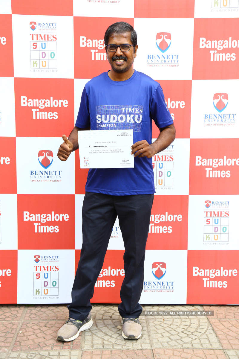 Bengaluru champs to represent city at Times Sudoku Championship finale
