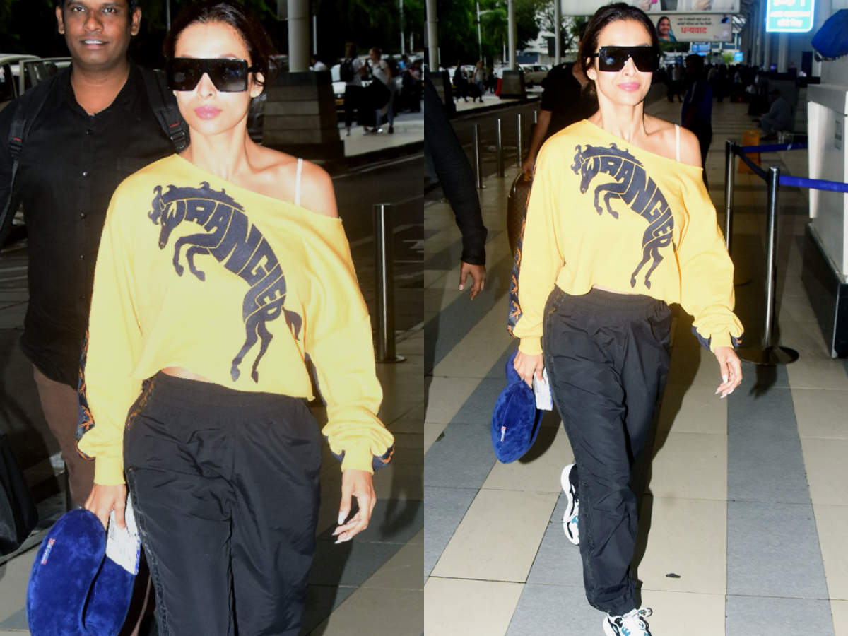 55596e610f Malaika Arora just wore the sexiest sweatshirt ever and you'll be ...