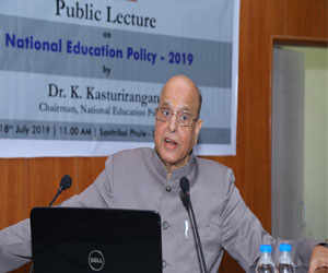 NEP chairman delivers public lecture at Hyderabad varsity